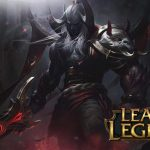 A detailed view of league of legends game and fonts used in the game logo